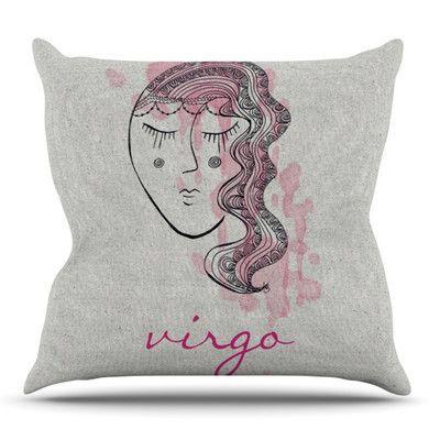 KESS InHouse Virgo by Belinda Gillies Outdoor Throw Pillow