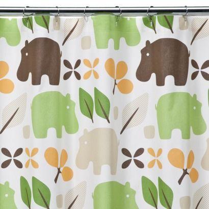 Dwell Studio Hippo Shower Curtain Cute Shower Curtains Target