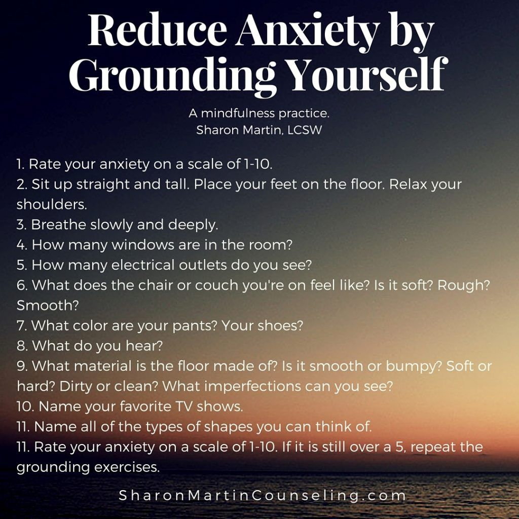 Grounding A Strategy To Reduce Anxiety