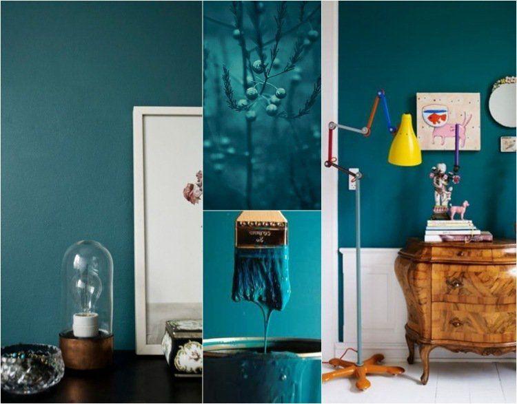 couleur de peinture 2015 le bleu p trole le vert canard et le sarcelle fabuleux d co. Black Bedroom Furniture Sets. Home Design Ideas