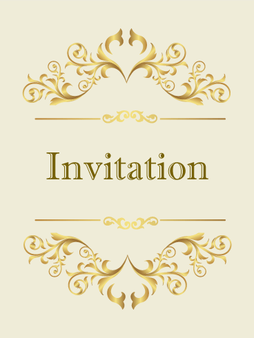 Classic Golden Invitation Card Every Elegant Event Deserves A - Golden gold birthday invitation background
