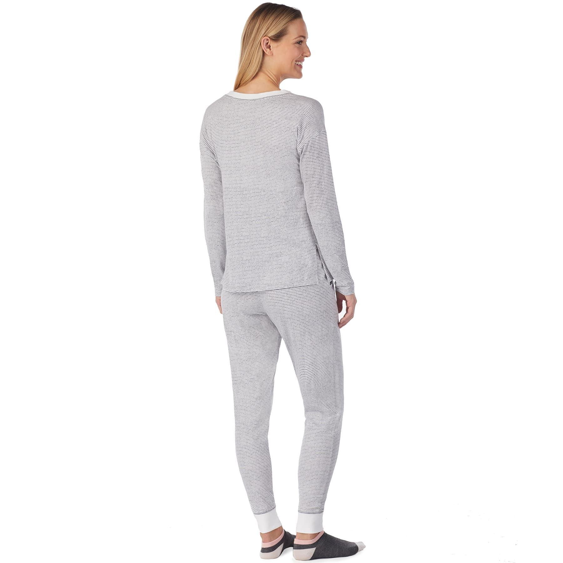 Women S Cuddl Duds Off Duty Cool Henley Tee Joggers Pajama Set