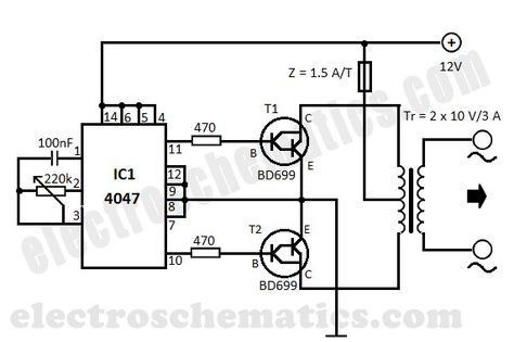 Diy 12v To 220v Dc To Ac Converter Built With Cmos 4047