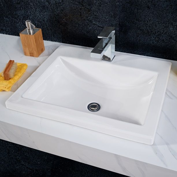 drop in bathroom sinks. Bathroom Sinks  Studio Drop In Sink White H4H Project