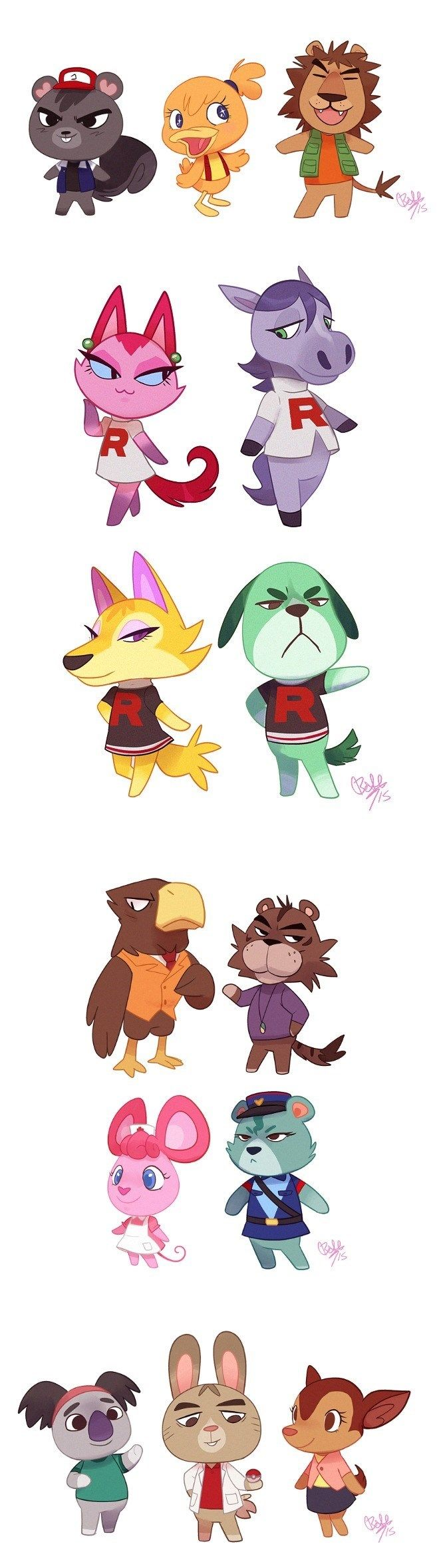 Pokémon meets Animal Crossing. This is so cute.