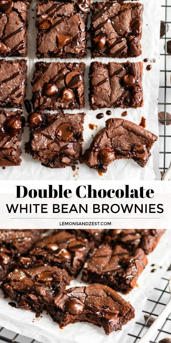 Double Chocolate White Bean Brownies