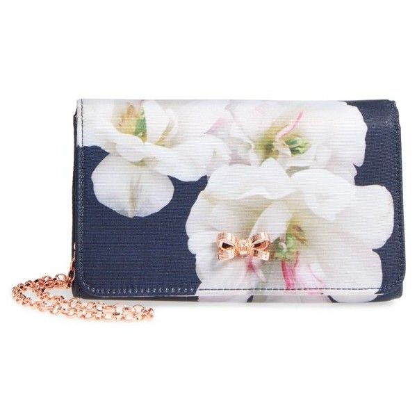 3c7bc19a9 Women s Ted Baker London Dafodil Gardenia Grosgrain Clutch ( 99) ❤ liked on  Polyvore featuring