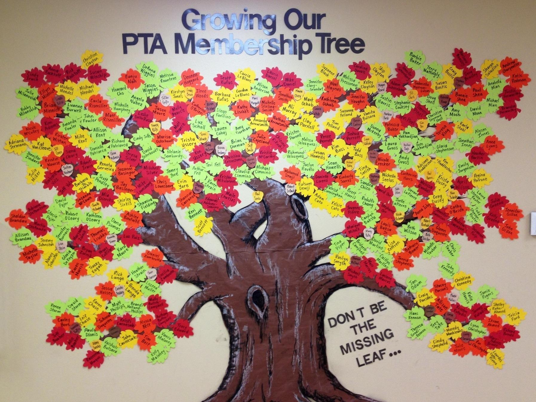 A neighboring school, Sabal Point Elementary\'s PTA membership tree ...