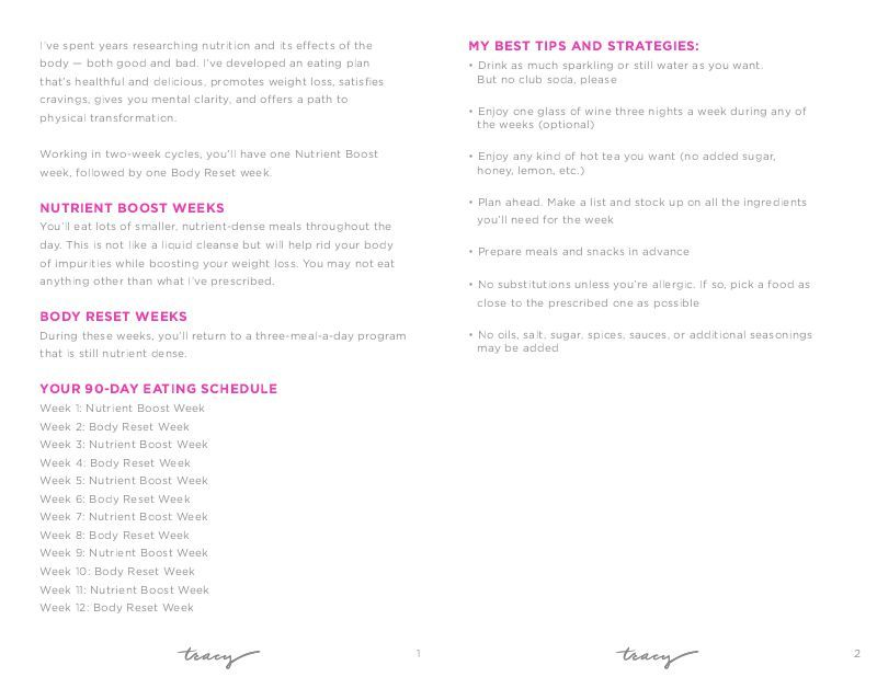 tracy anderson 30 day method pdf free