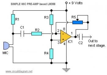 Mini Amplifier Circuit Diagram Electronic Projects Ic Based Circuit