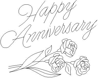 Happy Anniversary Drawing Coloring Pages Happy Anniversary