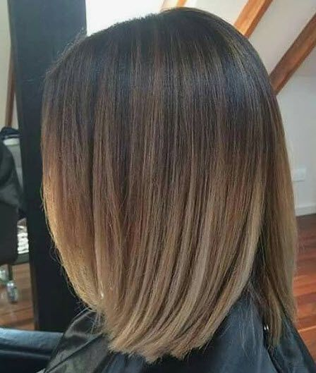 Ash Blonde Ombre On Dark Brunette Base Balayage Hair Hair Looks