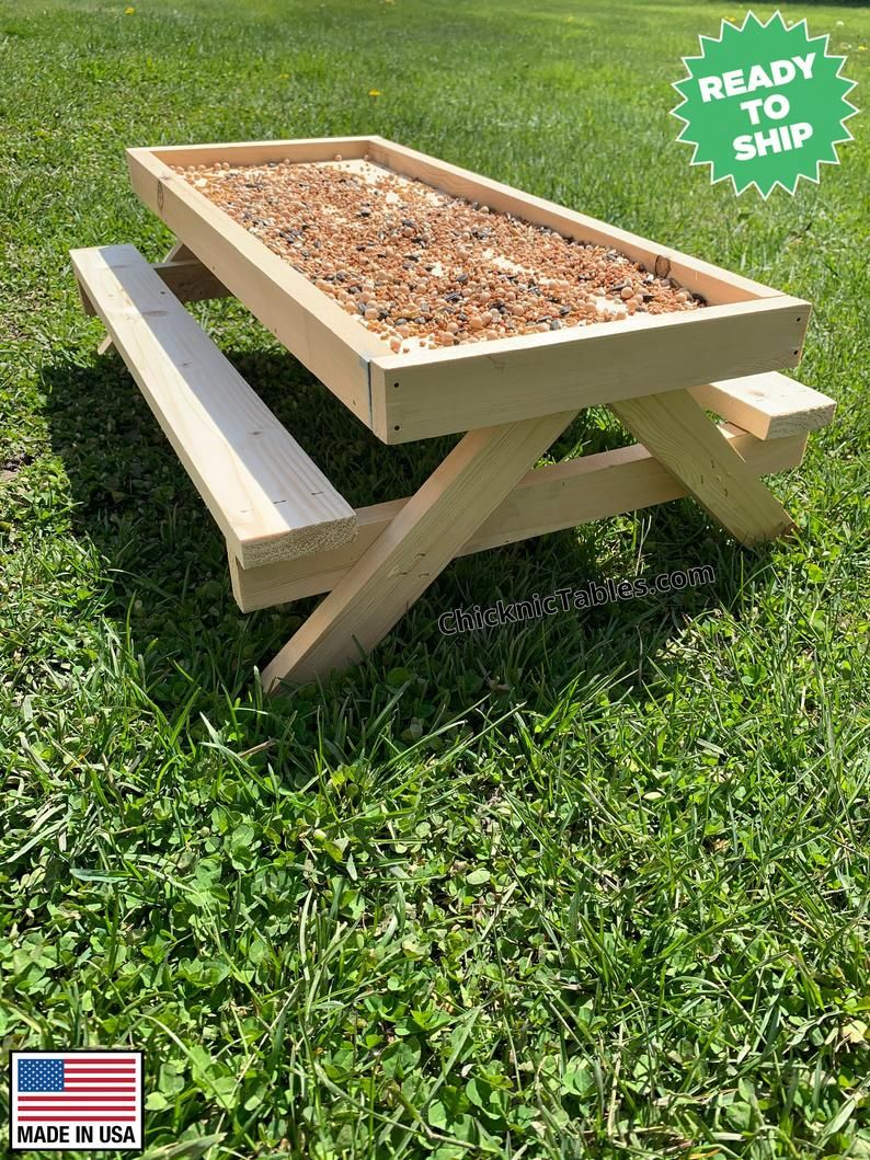 The Original Chicknic Table - Picnic Table for Chi