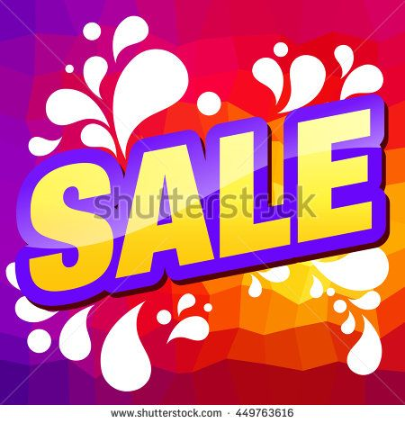 Sale Banner. Discount, Clearance Card. - stock vector