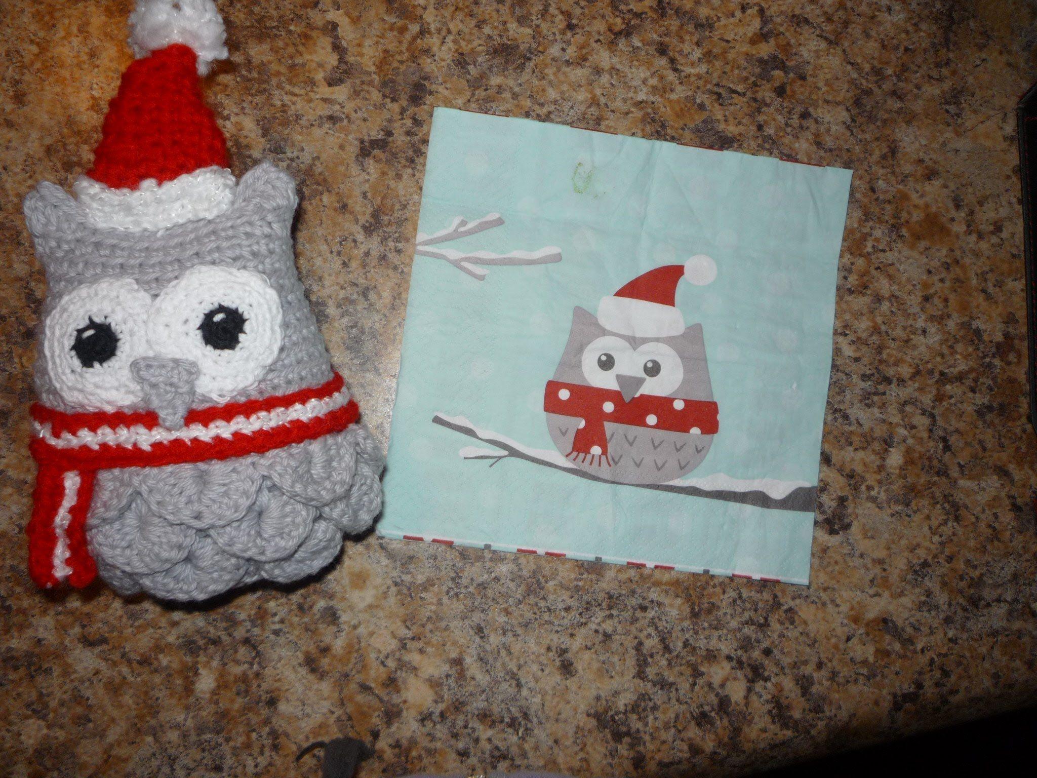 Amigurumis Navidad Paso A Paso : Crochet buho versión navideña cosas de na owl