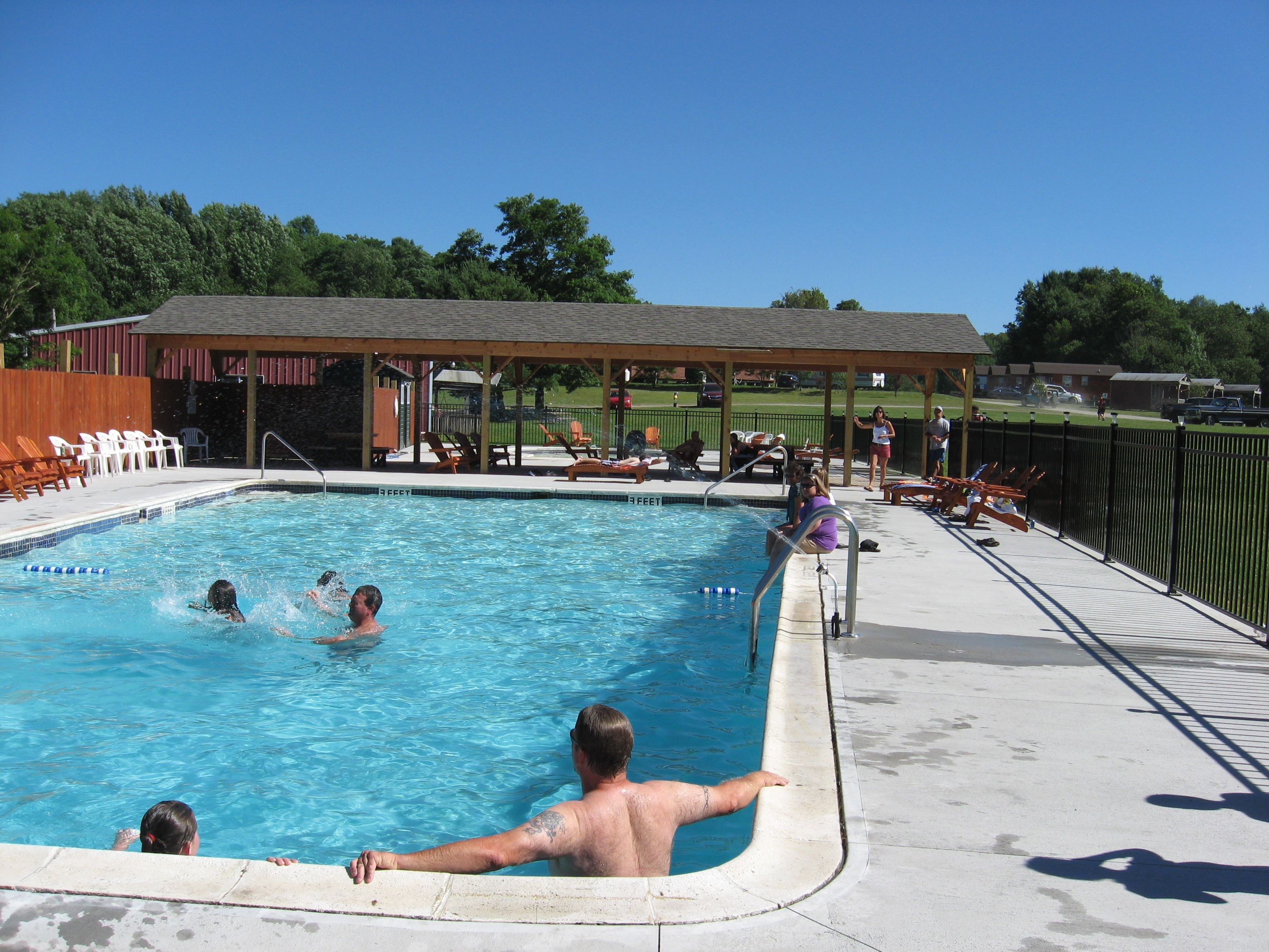Solar Heated Pool At Cooperstown Beaver Valley Cabins And