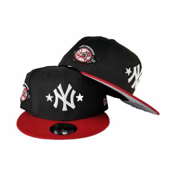 57a47fadce1c2 Exclusive New Era Black   Red New York Yankees 9Fifty Stars Snapback ...