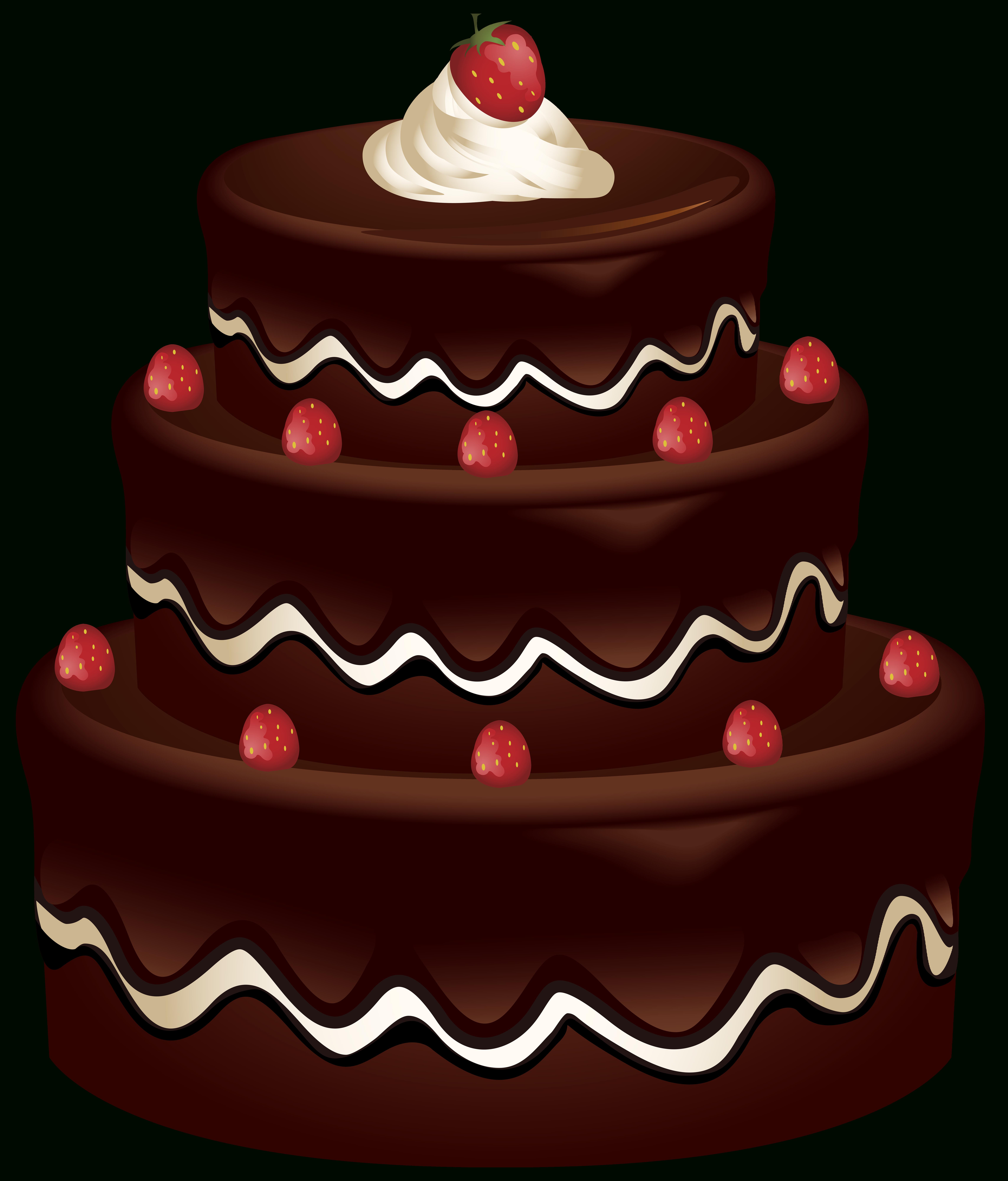 Free Beautiful Of Chocolate Birthday Cake Clipart Cake Illustration Cake Clipart Birthday Cake Chocolate
