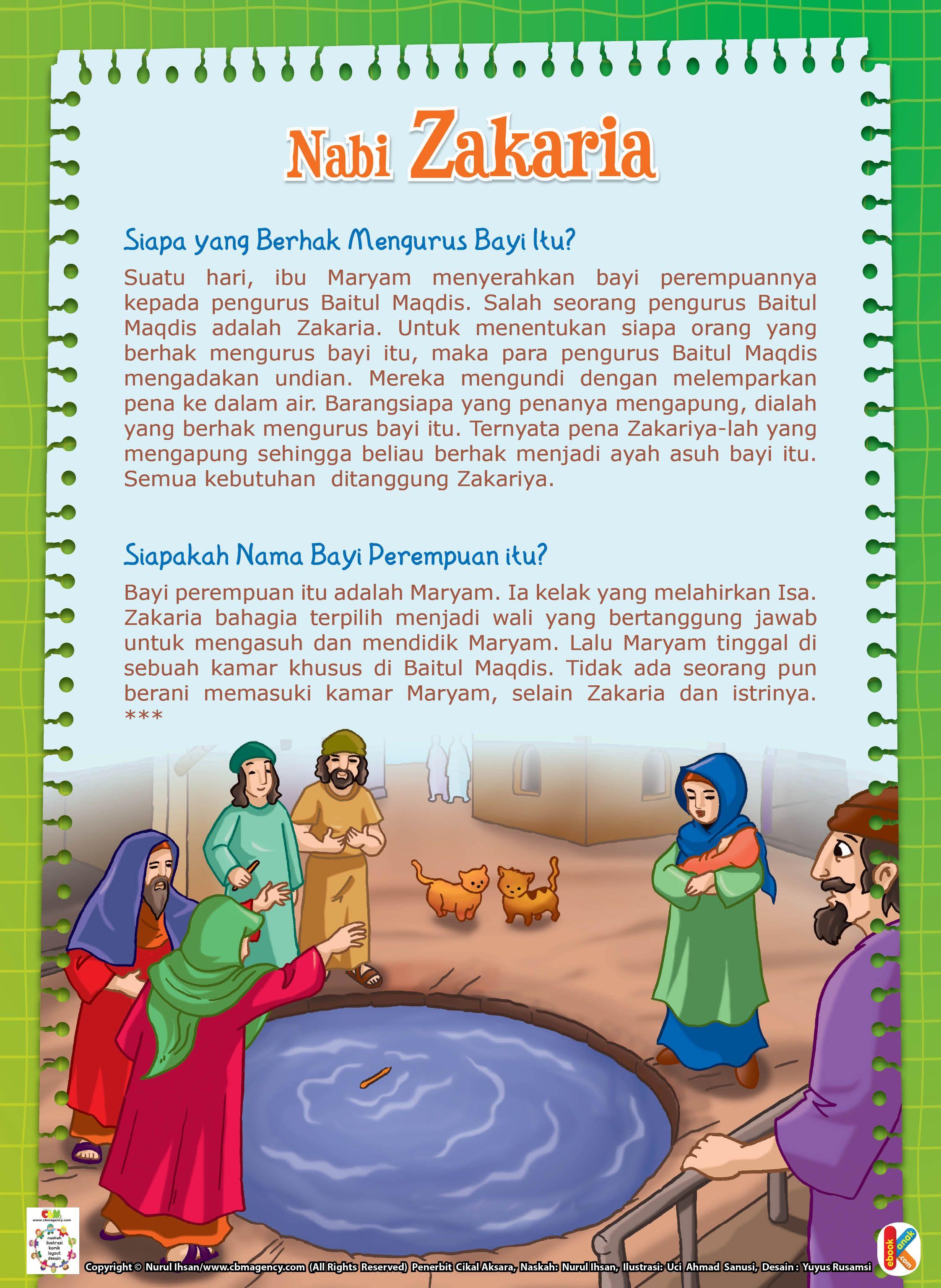 Nabi Zakaria Jadi Wali Siti Maryam Ebook Anak Buku Anak Pendidikan Buku