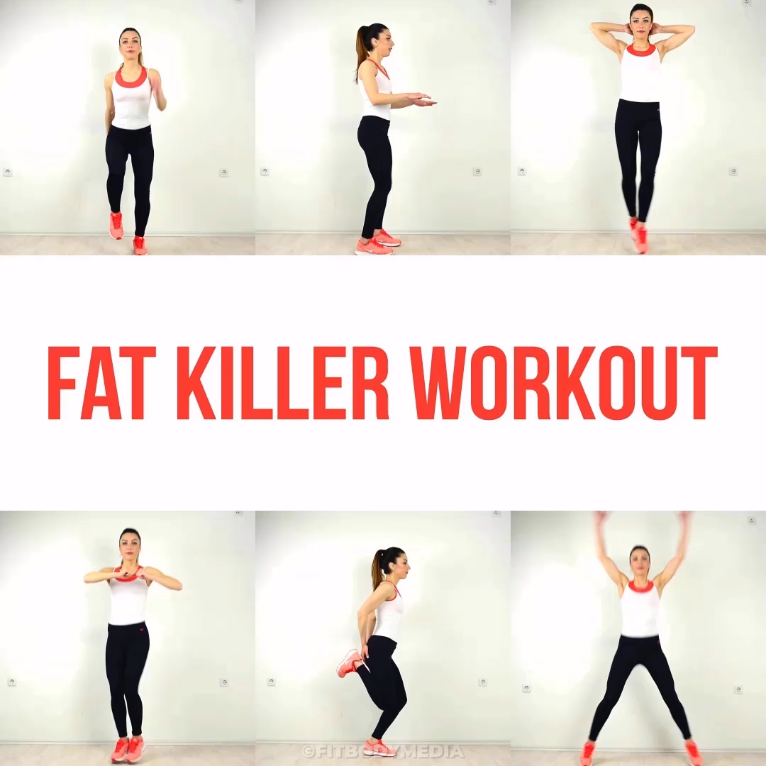 Fat Killer Workout - Fitness HIIT Training Plan For A Fit Body #Gym #Fitness #Exercises #Tryathome #athomeworkout #Sweat #Cardio #AbExercises #Abs