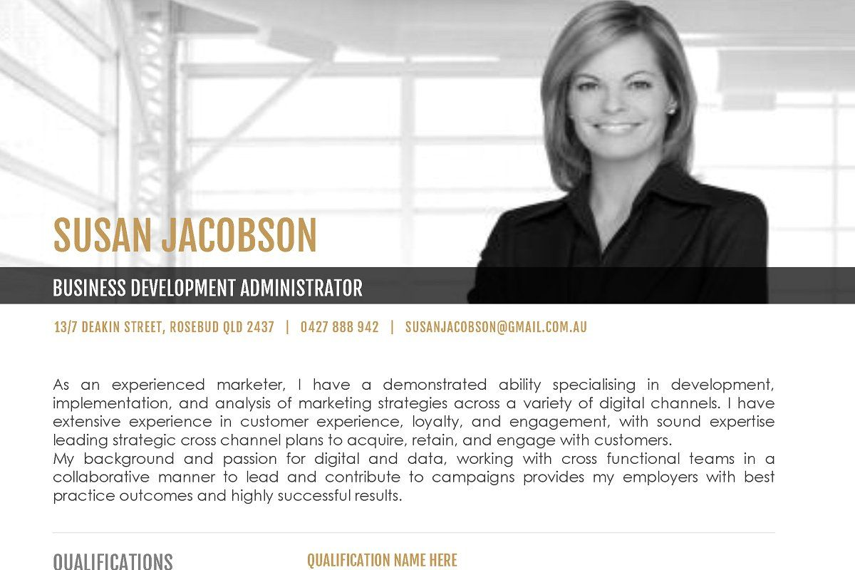 Executive resume ms word template in 2020 executive