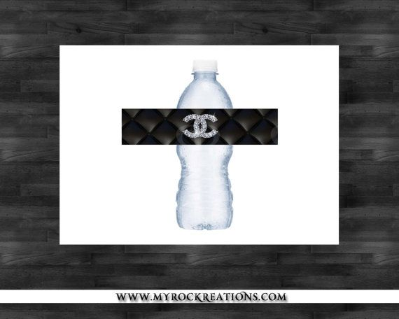 Chanel Water Bottle Labels DIY Printables by rockreations ...