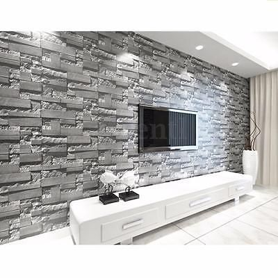 10m 3d Wallpaper Bedroom Mural Roll Modern Stone Brick Wall Background Textured White Brick Wallpaper Brick Wallpaper Stone Wallpaper