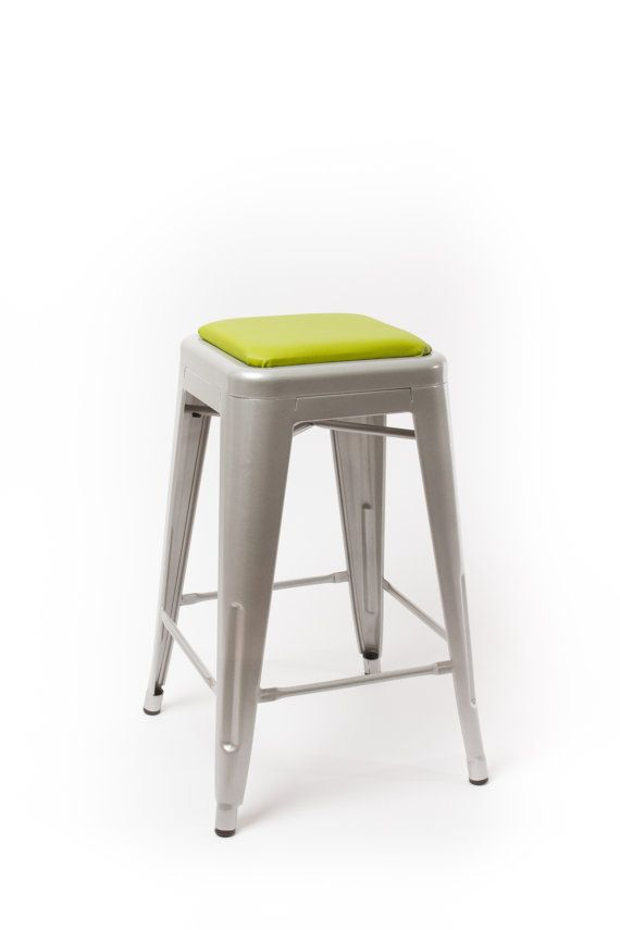 Square Stool Cushion For Metal Industrial Modern Farmhouse Etsy Stool Cushion Metal Stool Stool