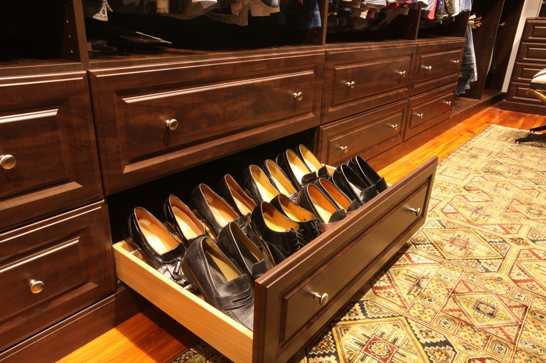 Pull Out Shoe Drawers Keep Your Shoes Hidden But