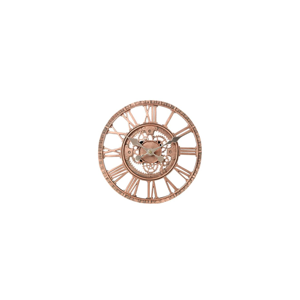 Lily S Home Hanging Wall Clock Steampunk Gear And Cog Design With A Bronze Finish Ideal For Indoor Or Outdoor Use Poly Resin 12 Inches Diameter Steampunk In 2020 Steampunk Bronze Bronze Finish