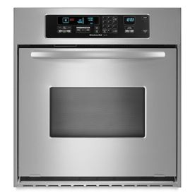 Wonderful KitchenAid Architect 24 In Self Cleaning Convection Single Electric Wall  Oven (Stainless