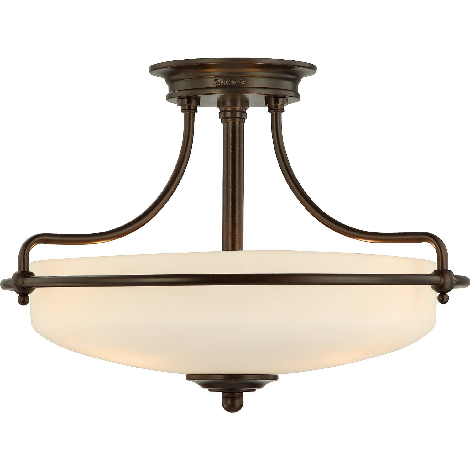 Quoizel GF1717PN Griffin 3 Light 17-Inch Semi Flush Mount, Palladian ...