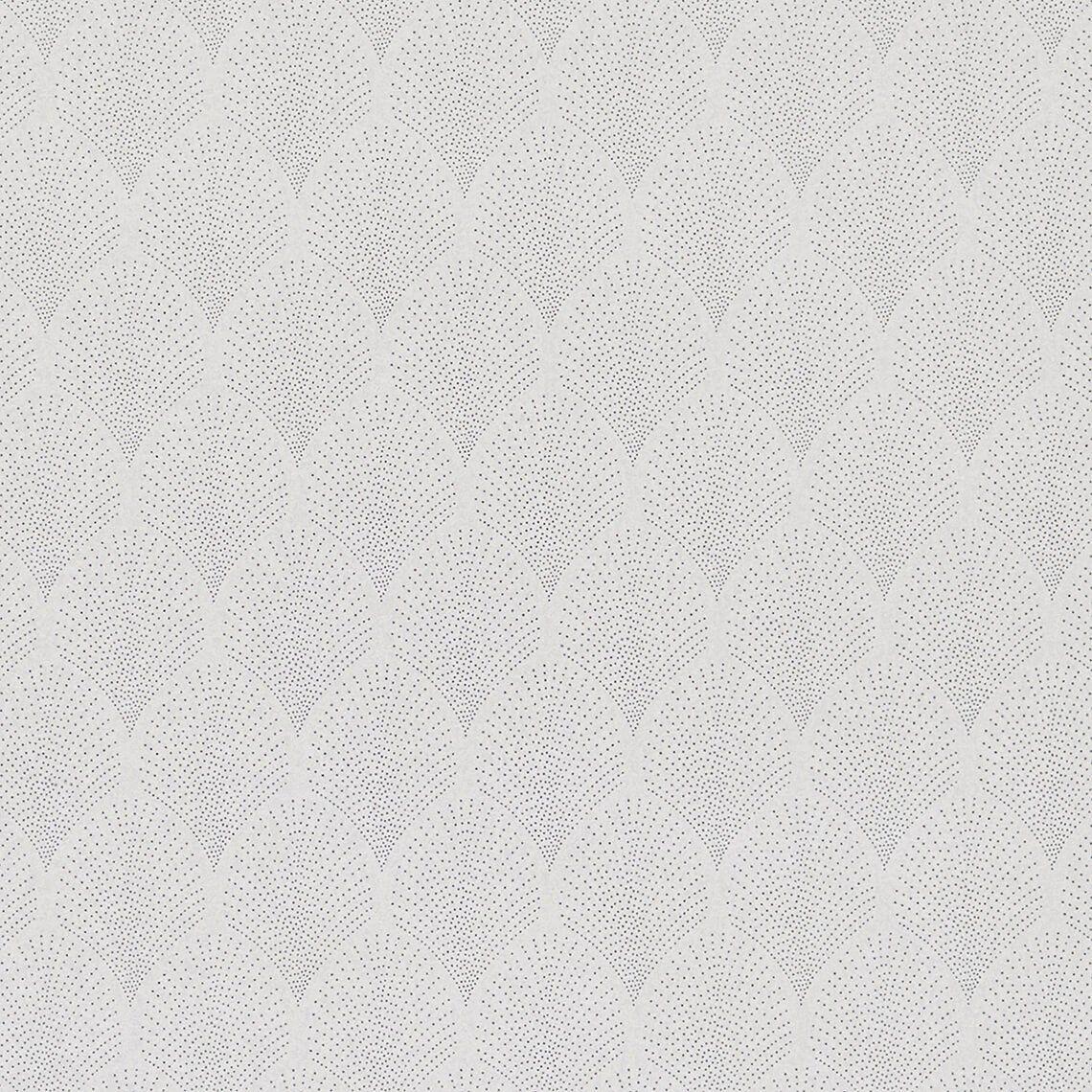 Papier peint RETROSILVER, 100% intissé graphique, gris nuage