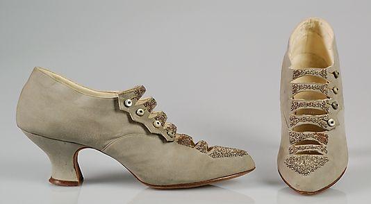 Ladies Dinner Shoes -- 1915 -- A.E. Little & Co. -- American -- Metropolitan Museum of Art Costume Institute