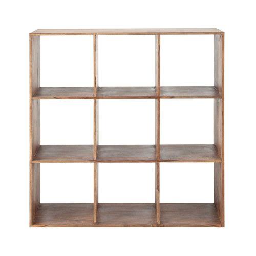 Solid Sheesham Wood Shelf Unit W 111cm Organisateur Cubique Etagere Bois