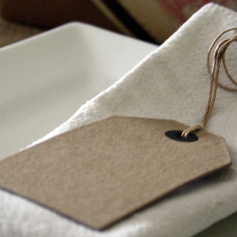brown luggage tags vintage place cards pack of 6 place cards