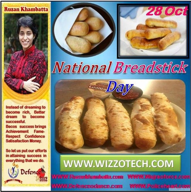National Breadstick Day Breadsticks Are Often Found Offered In Restaurants As An Appetizer And Come In Various Sizes That Are Frequently Enjoyed With Dippin Food