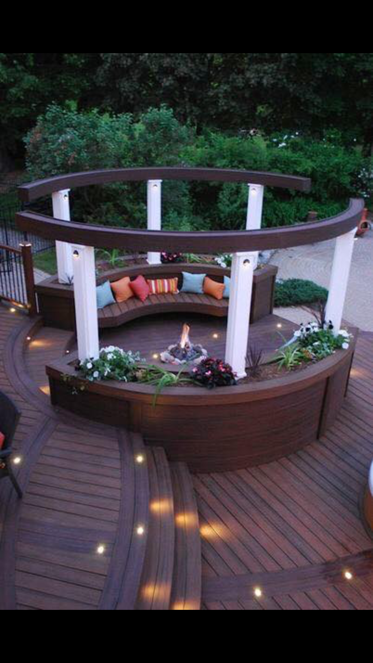 Awesome sitting area with dark wood Outdoor Living