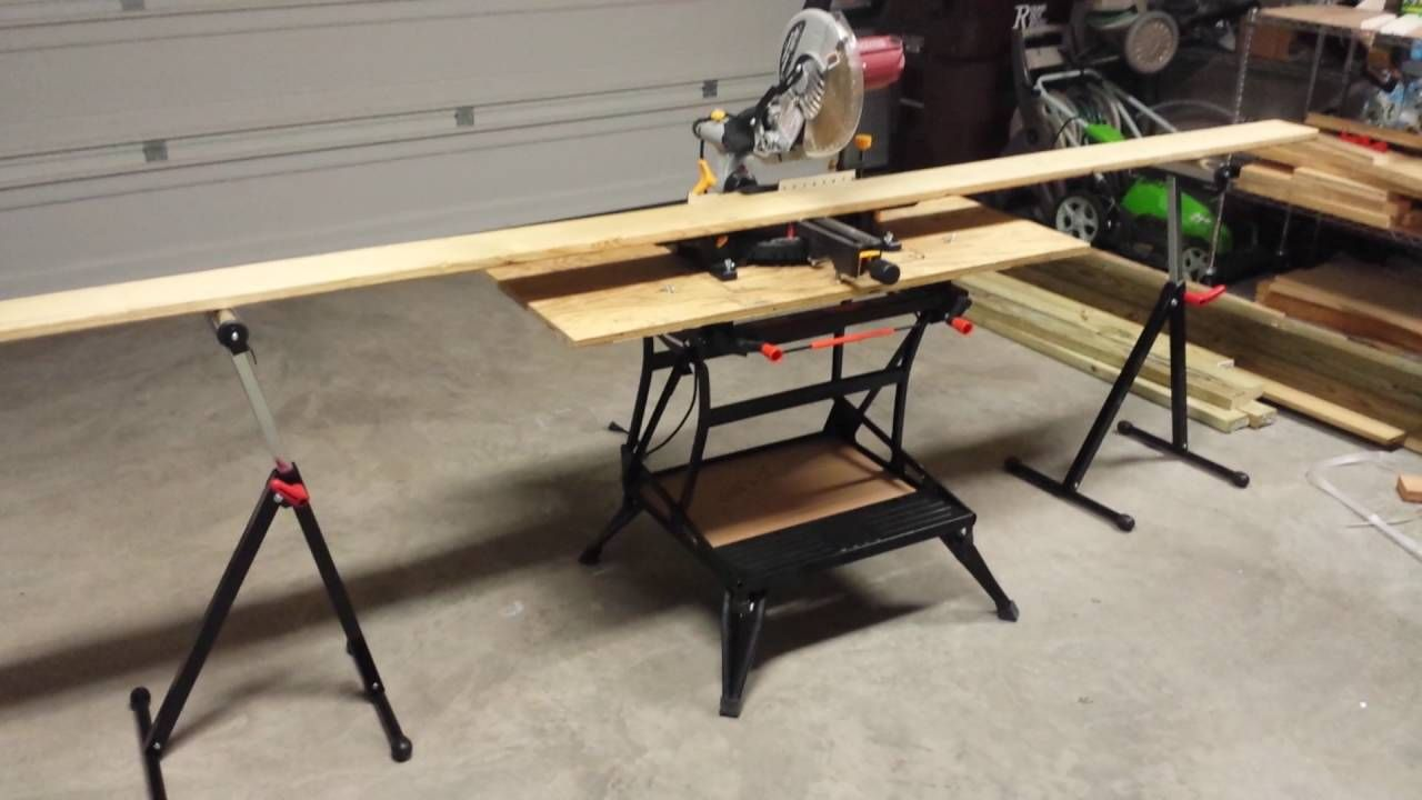 How To Make A Miter Saw Bench With Your Workmate 425 47