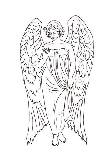 ngel Guardin Dibujo para colorear Categoras Iglesia Pginas