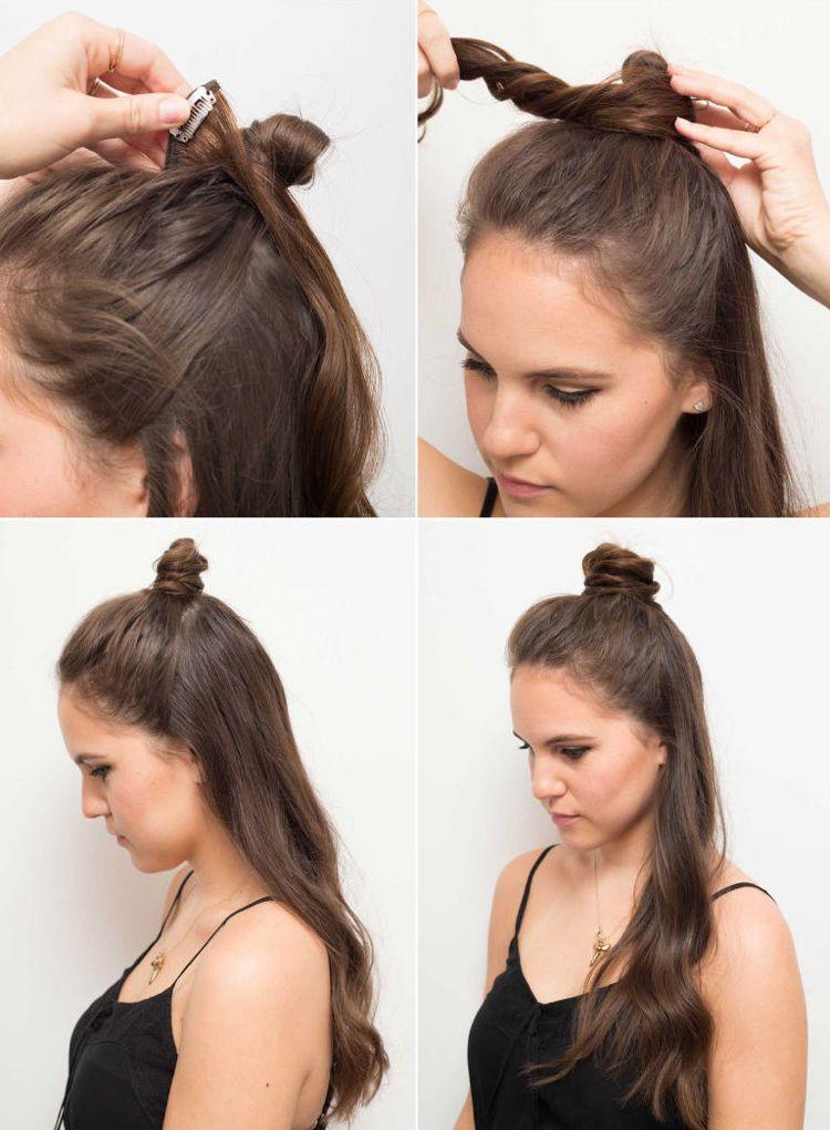 Neue Frisurentrends Fur Frauen Und Manner Half Bun Frisur Neueste Frisuren Haar Brotchen Haar Styling Halber Haarknoten