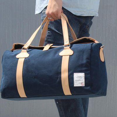 59e4eda4db6 unihood New Canvas Mens Casual Gym Bag Vintage Style Travel Boston Sport  Duffle