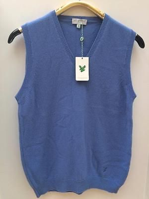 Lyle Scott Golf Lambswool Sky Blue Sweater Vest Sleeveless Jumper ...