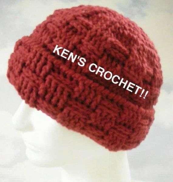 Basketweave Stitch Winter Hatpdf Pattern Only By Kenjones5 On Etsy