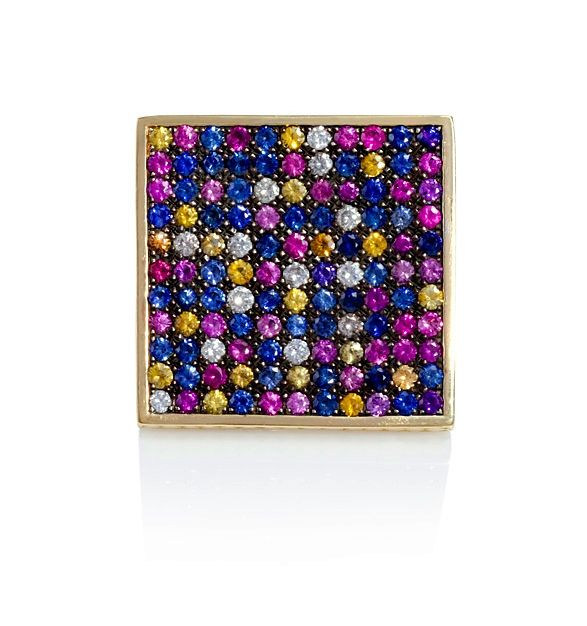 Ray Griffiths Sapphire Square Ring