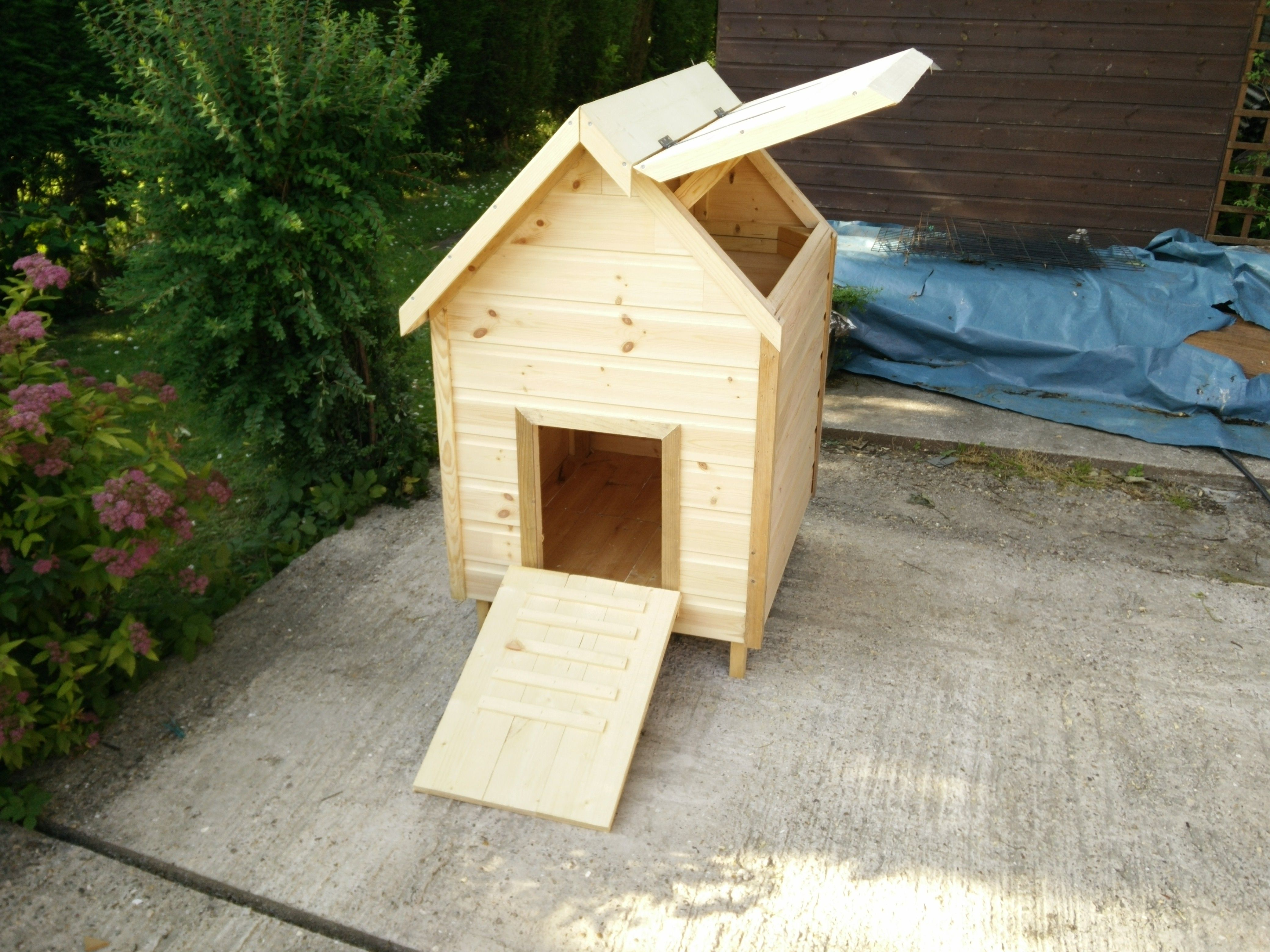 The Duck House Front View Showing Lift Up Lid Amp Door