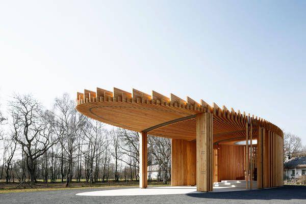 Architekt Landau schützendes dach kirchenpavillon in landau architecture and pavilion