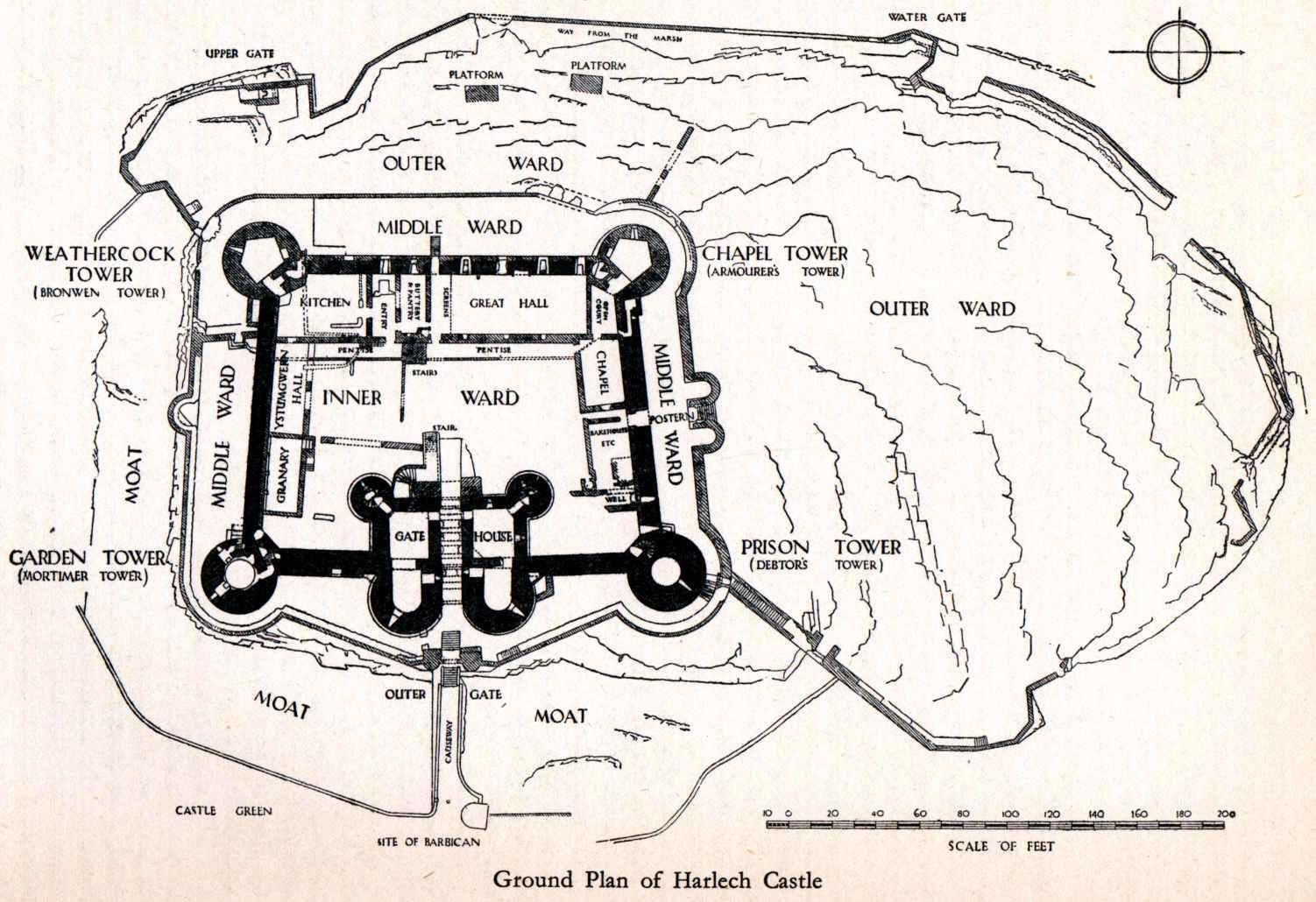 Harlech Castle Floorplan Jpg 1502 1030 Castle Floor Plan Castle Plans Castle Layout