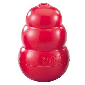 Pet Chew Toys Amazon Com Kong Classic Dog Toy Large Red
