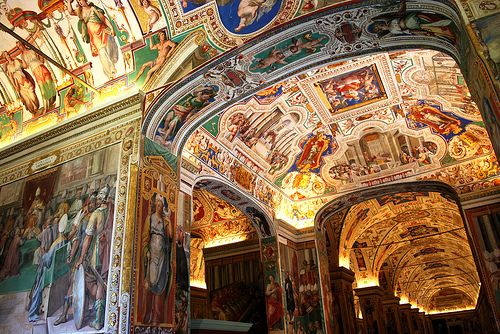 The Borgia Apartments are a suite of rooms in the Apostolic Palace in the Vatican, adapted for personal use by Pope Alexander VI (Rodrígo de Borgia). In the late 15th century, he commissioned the Italian painter Bernardino di Betto (Pinturicchio) and his studio to decorate them with frescos.